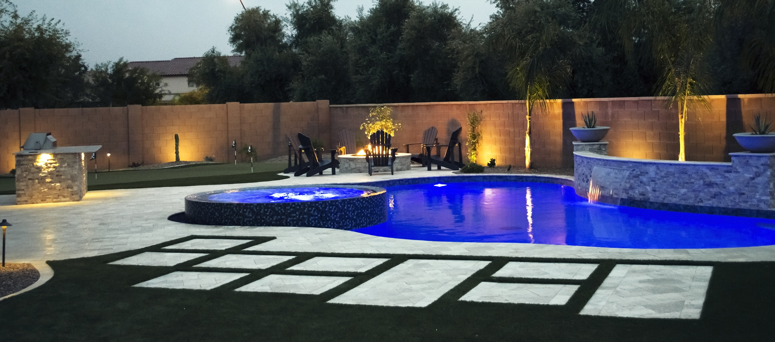 Custom Swimming Pool Designed For Queen Creek Home