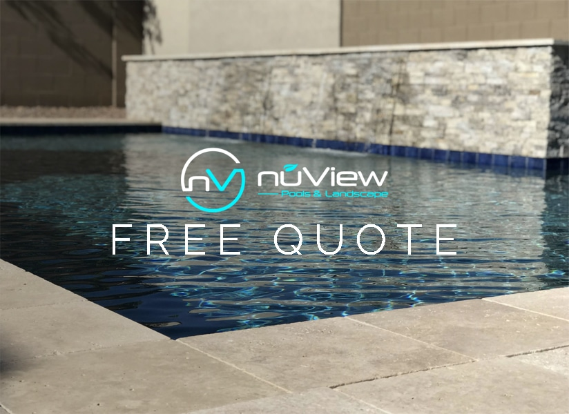 Free quote for new pool construction nuview pools for Pool builder quotes