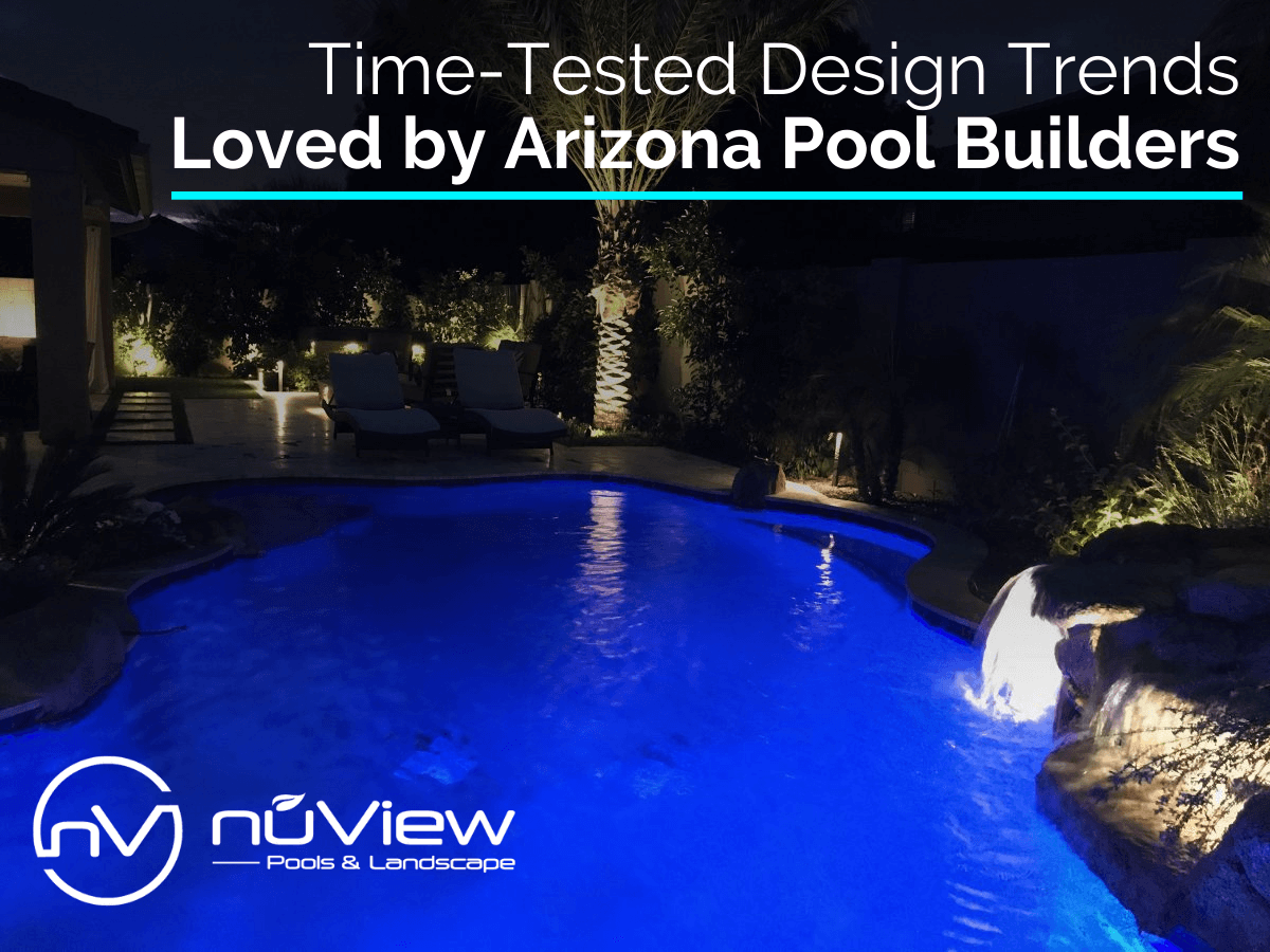 Led Lights in Beautiful Swimming Pool is One of the Design Trends that Arizona Pool Builders Love